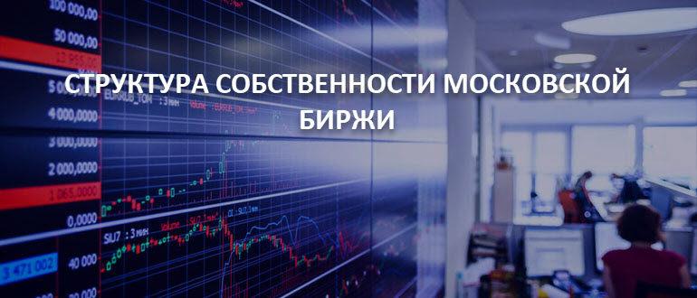 Структура собственности Московской биржи